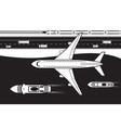 passenger transportation land air and se vector image vector image