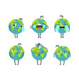pollution planet character vector image vector image