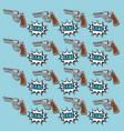 pop art handgun wallpaper vector image