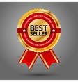 premium golden and red best seller label vector image