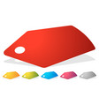 price tag label icon in several colors sales vector image