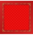 red background with golden frame
