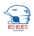 riding helmet line icon vector image vector image