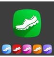 running shoe sneaker trainer flat icon vector image