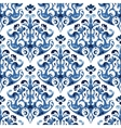 Seamless blue pattern background with vector image vector image