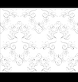 seamless floral pattern on white background vector image vector image