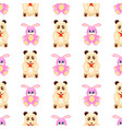 seamless pattern with rabbit and teddy bear vector image