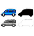 set blue car vector image vector image
