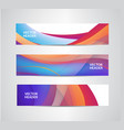 set of abstract colorful wavy headers vector image vector image