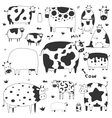set of funny cows vector image vector image