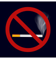 Single isolated stop smoking cigarette symbol vector image