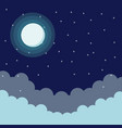 sky at night vector image
