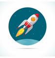space rocket flying in vector image
