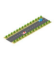 suburban high-speed isometric vector image vector image
