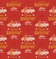 surfing car pattern vintage hand drawn surf wagon vector image vector image