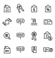 thin line icons - real vector image vector image