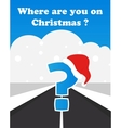 where will you spend your christmas vector image