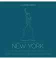 World landmarks New York USA Statue of Liberty vector image vector image