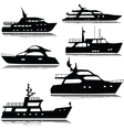yachts silhouette vector image vector image