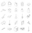 Cleaning icons set vector image