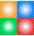 Color Sun Sunburst Background vector image