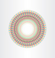 colorful halftone squares circle abstract vector image