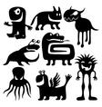 strange characters set vector image