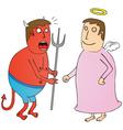 Angel vs Devil vector image