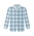 Checkered Grey Shirt Flat Style vector image