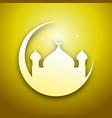golden eid mubarak graphic design vector image