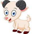 happy goat cartoon vector image