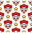 Sport seamless pattern soccer vector image