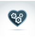 a mechanical heart Love machine icon Ge vector image