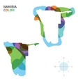 Abstract color map of Namibia vector image vector image