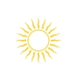 Abstract Yellow Sun Icon Line Style Design vector image
