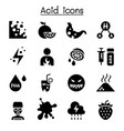 acid icon set vector image vector image