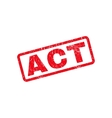 Act Text Rubber Stamp vector image vector image