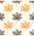 autumn pattern with chestnut leaves vector image vector image