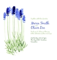 background with blue watercolor lavender vector image vector image