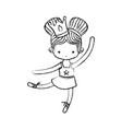 ballet dancer design vector image vector image