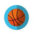 basketball balloon isolated icon vector image vector image