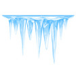big icicles cluster isolated vector image vector image