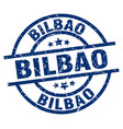bilbao blue round grunge stamp vector image vector image