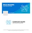 blue business logo template for design designer vector image