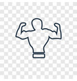 body concept linear icon isolated on transparent vector image