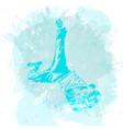 break dance dancer on handcrafted splashes vector image vector image