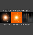 brightly colorful orange firework vector image vector image