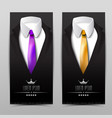 business luxury clothing vertical banners vector image vector image