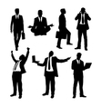 Businessman activity silhouettes vector image