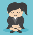 Calm business woman meditating vector image vector image